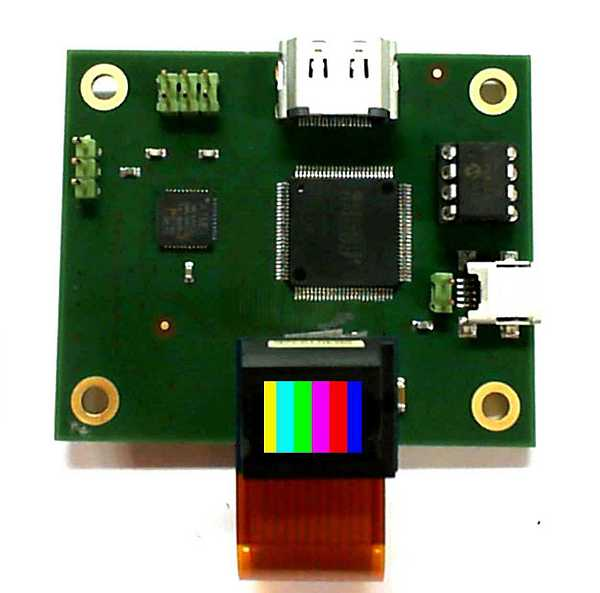color microdisplay illuminated