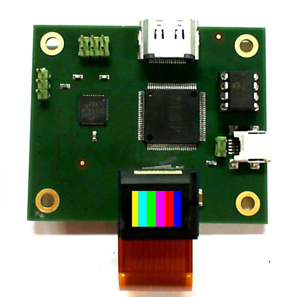microdisplay illuminated